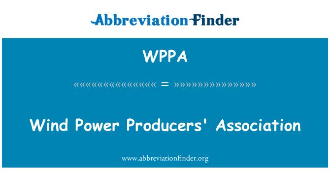 WPPA: Rüzgar elektrik Üreticileri Derneği