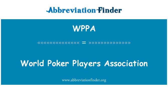 WPPA: Dünya Poker oyuncuları Derneği