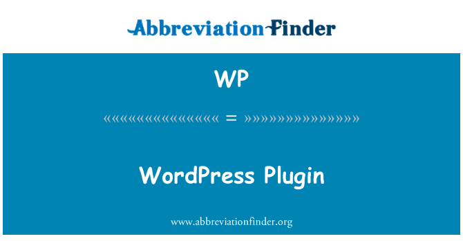 WP: WordPress Plugin