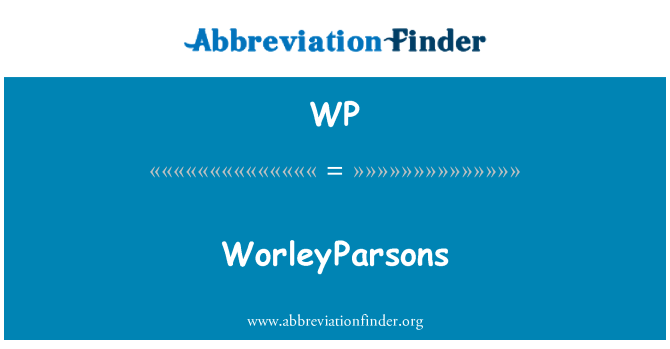 WP: WorleyParsons
