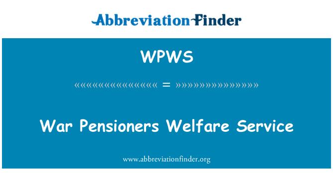 WPWS: Savaş emekliler sosyal yardım Servisi
