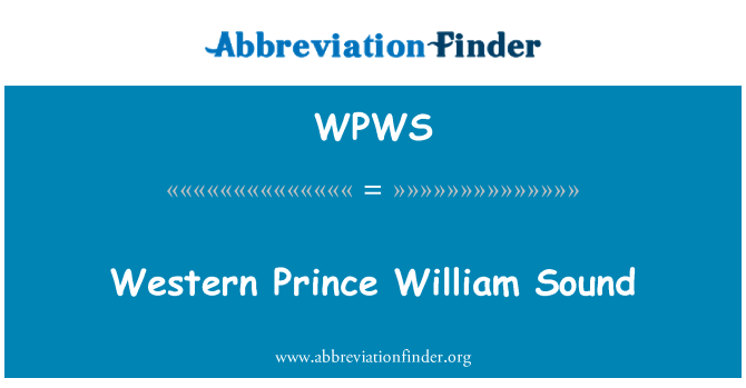 WPWS: Western Prince William Sound