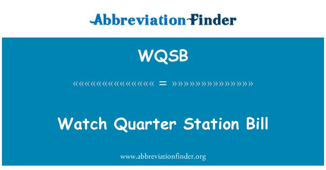 WQSB: Çeyrek istasyonu Bill izle