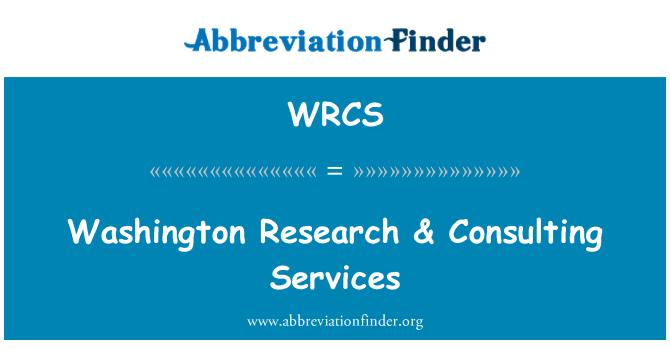 WRCS: Washington Research & servicios de consultoría