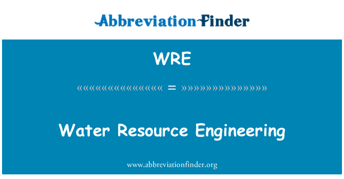 WRE: Water Resource Engineering