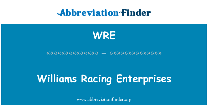 WRE: Williams Racing Enterprises