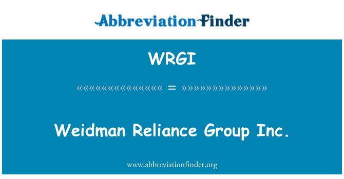 WRGI: Weidman Reliance Group Inc.