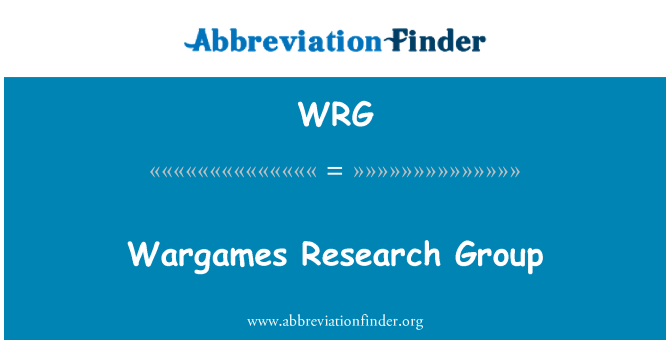 WRG: Wargames Research Group