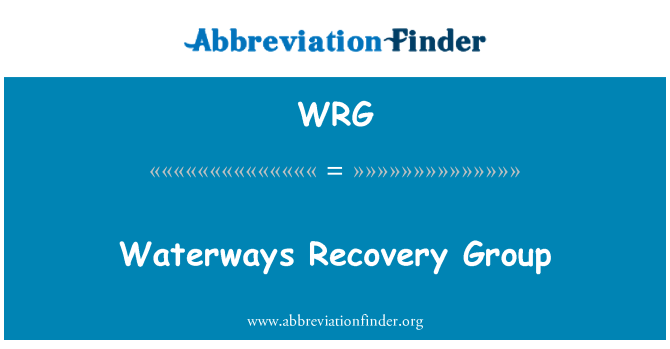 WRG: Waterways Recovery Group