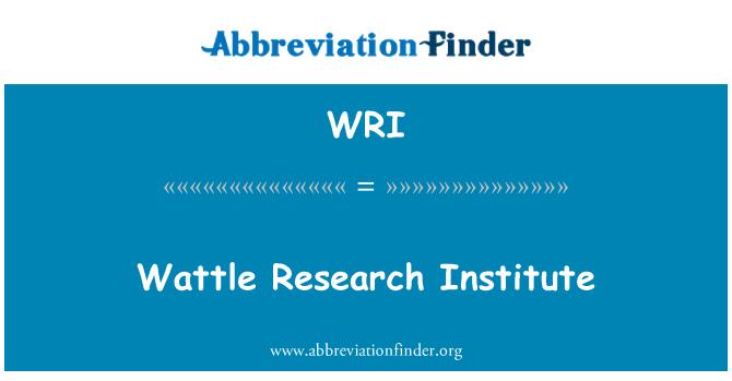 WRI: Wattle Research Institute