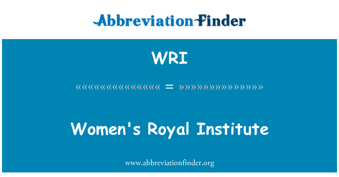 WRI: Women's Royal Institute
