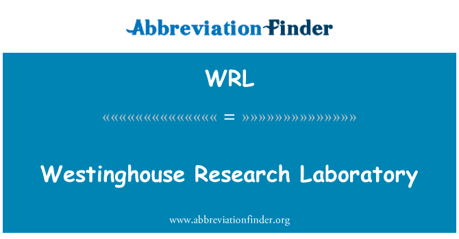 WRL: Westinghouse Research Laboratory