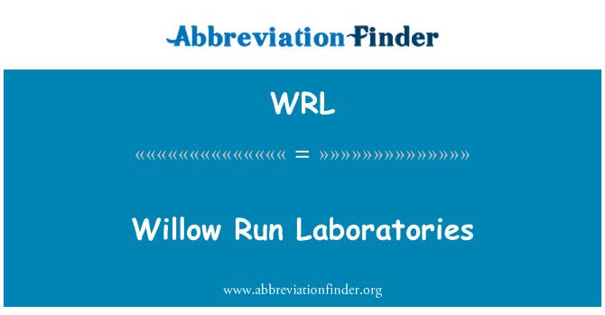 WRL: Willow Run Laboratories