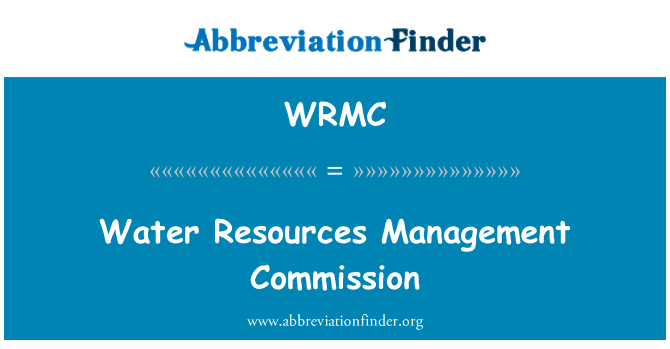 WRMC: Comisión de gestión de recursos hídricos