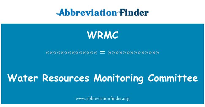 WRMC: Comité de seguimiento de los recursos de agua