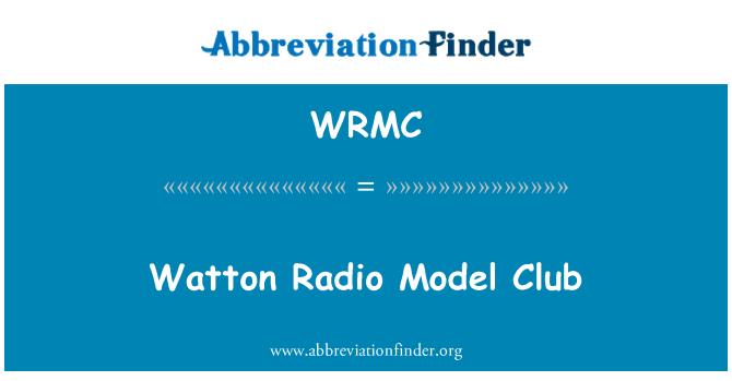 WRMC: Watton radyo modeli kulübü