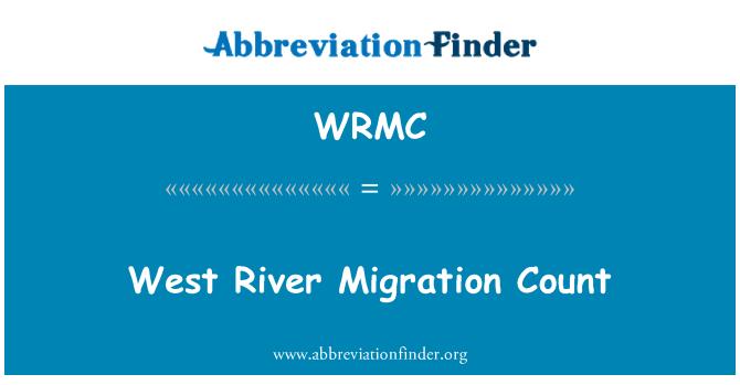 WRMC: Conteo de migración río del oeste