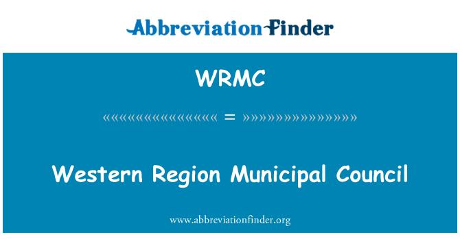 WRMC: Concejo Municipal de la región occidental
