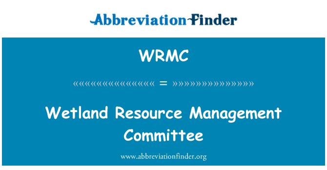WRMC: Comité de gestión de recursos de humedal