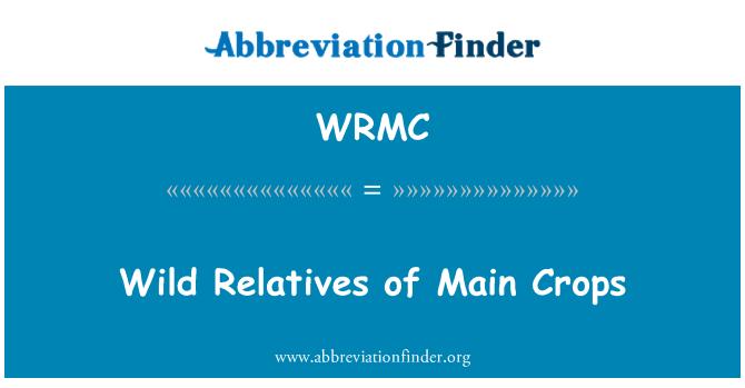 WRMC: Parientes silvestres de cultivos principales
