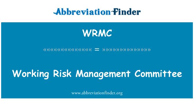 WRMC: Comité de gestión de riesgo trabajo