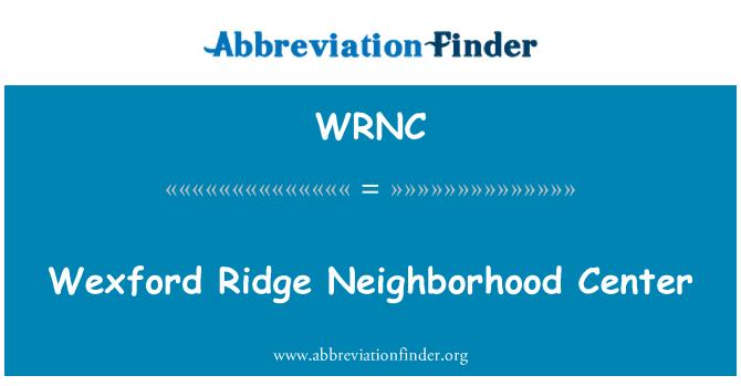 WRNC: 韋克斯福德脊鄰里中心