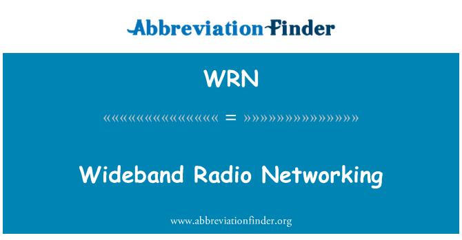 WRN: Wideband Radio Networking