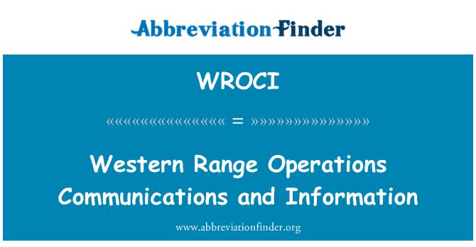 WROCI: Západní oblast operací komunikace a informace