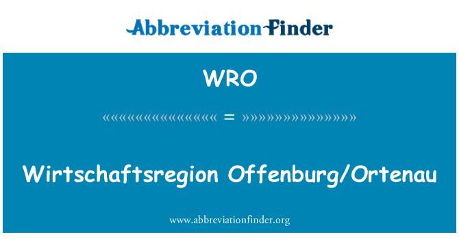 WRO: Wirtschaftsregion Offenburg/Ortenau