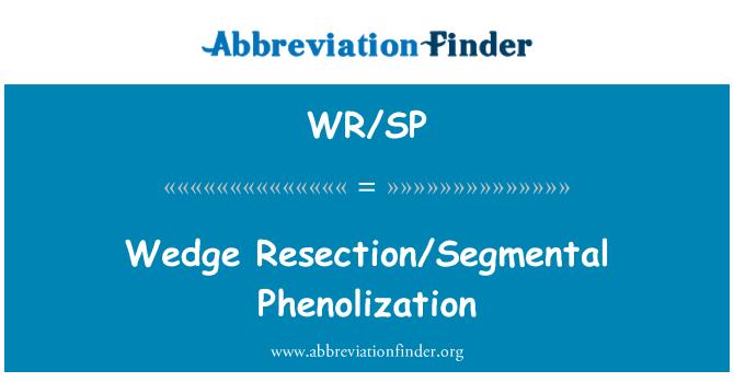WR/SP: Wedge Resection/Segmental Phenolization
