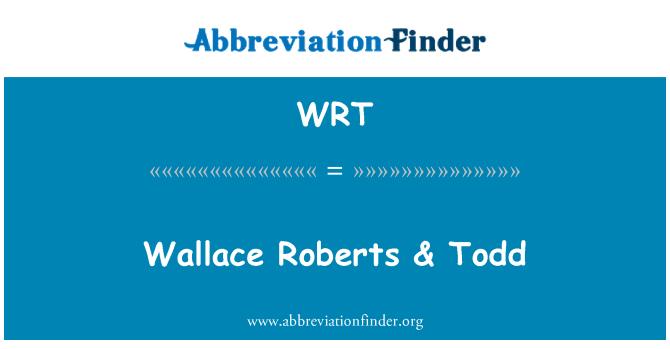 WRT: Wallace Roberts & Todd