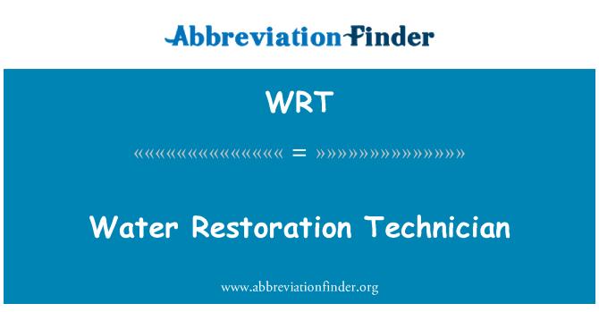 WRT: Water Restoration Technician