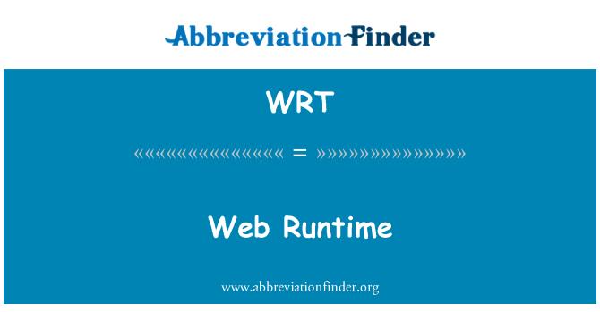 WRT: Web Runtime