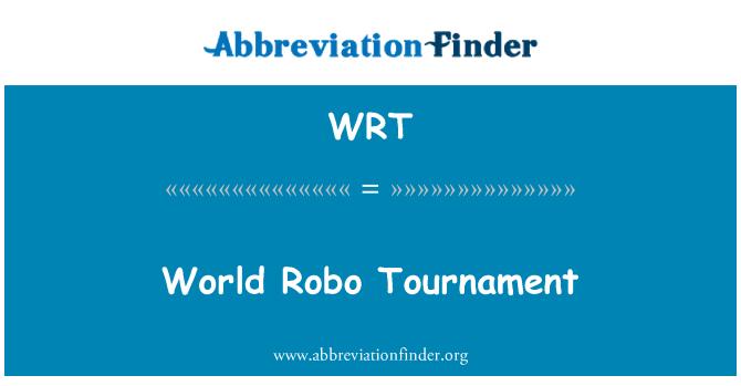 WRT: World Robo Tournament