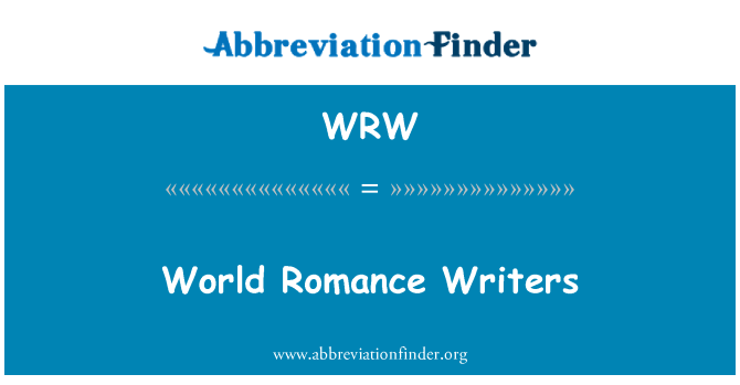 WRW: World Romance Writers
