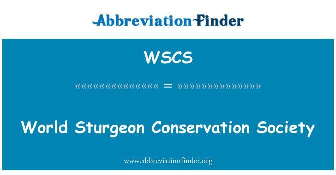 WSCS: Sociedad para la conservación mundial esturión