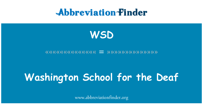 WSD: Washington School for the Deaf