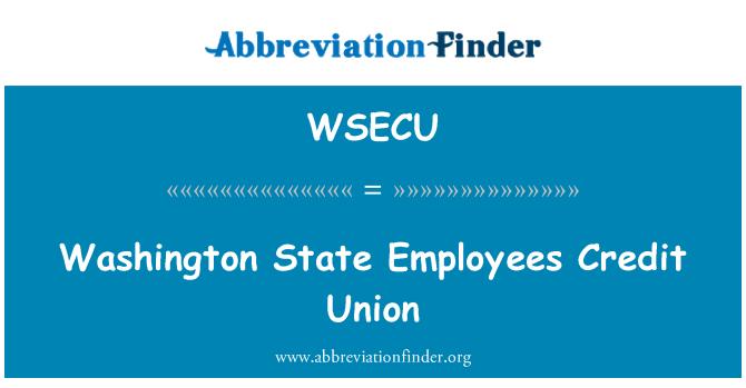 WSECU: Washington State Employees Credit Union