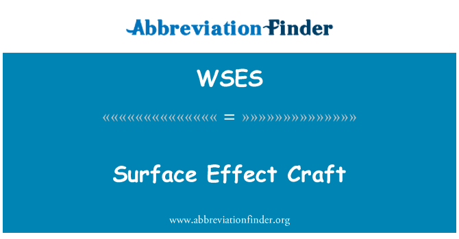WSES: Surface Effect Craft