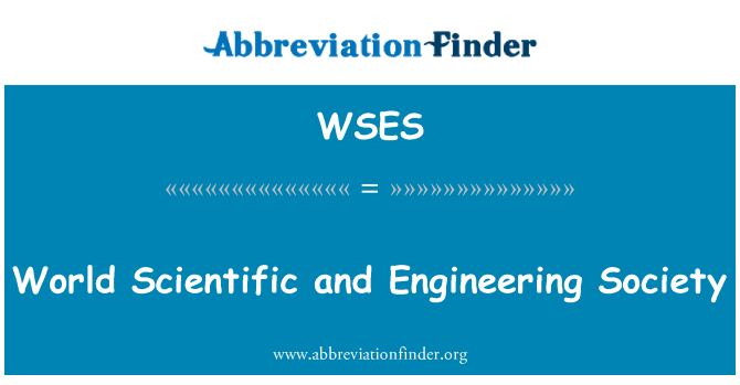 WSES: World Scientific and Engineering Society