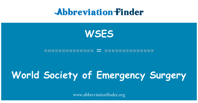 WSES: World Society of Emergency Surgery