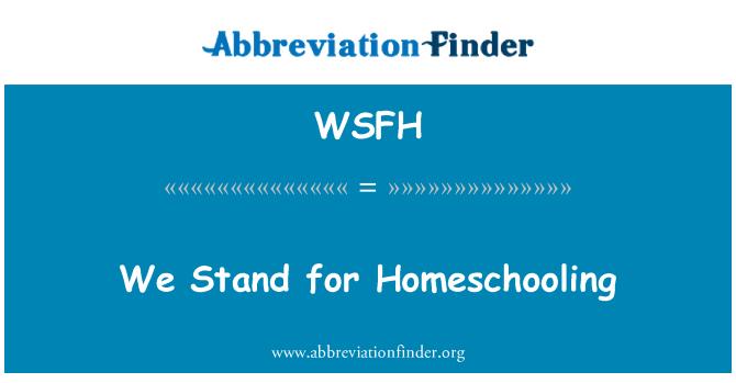 WSFH: Biz evde eğitim için Stand