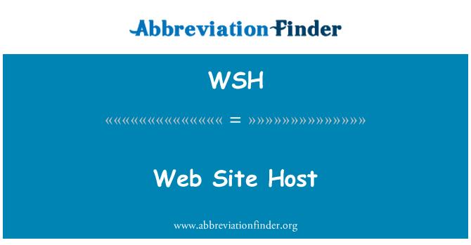 WSH: Web Site Host