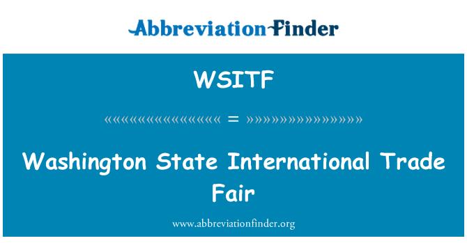 WSITF: Washington State International Trade Fair