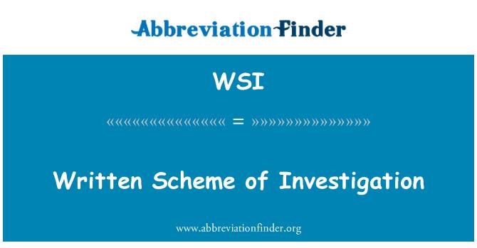 WSI: Esquema de escritos de investigación