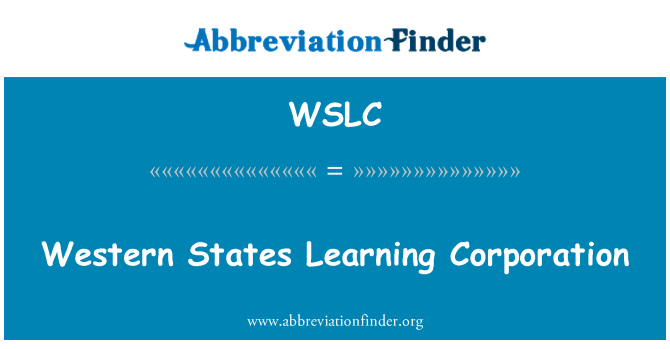 WSLC: Western States Learning Corporation