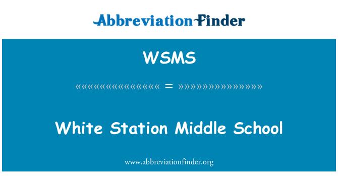 WSMS: Estación blanco Middle School