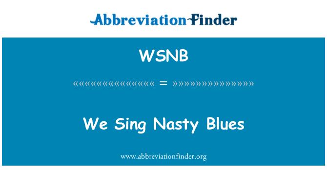 WSNB: Laulame vastik Blues