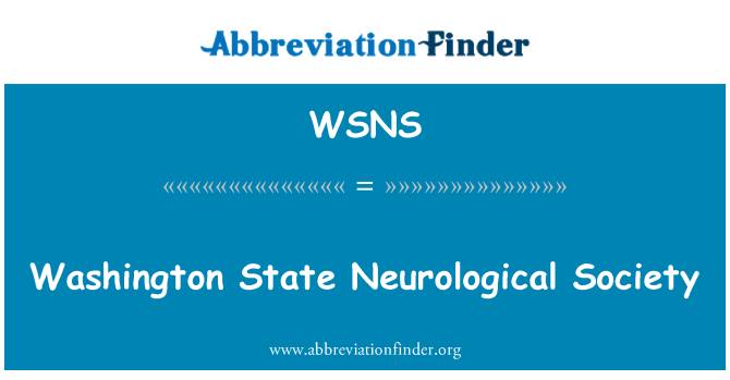 WSNS: Washington State Neurological Society