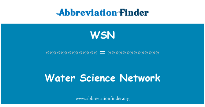 WSN: Water Science Network